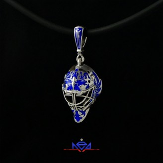 Кулон с синей эмалью