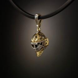 Gold Goalie Mask pendant