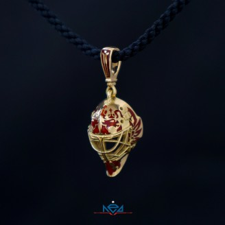 Gold Goalie Mask pendant team Russia