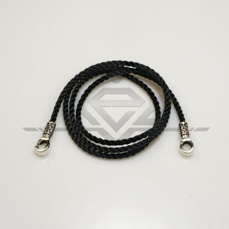 Rubber and braided laces with silver padlock