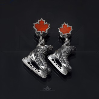 Hockey skate pendant team Canada