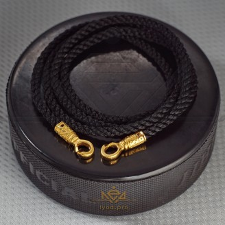 Braided lace with gold plated padlock